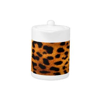 tribal fashionista safari animal leopard print teapot