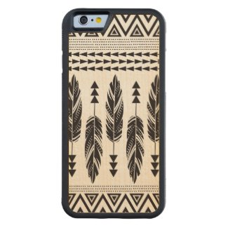 Tribal Feathers Maple Wood iPhone 6 Case Carved® Maple iPhone 6 Bumper