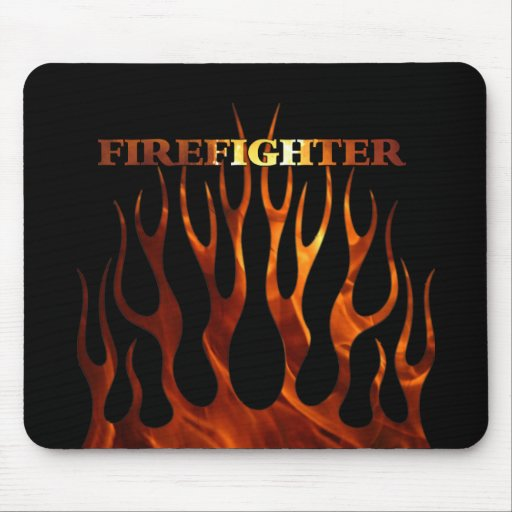 Tribal FF Flames Mouse Pad