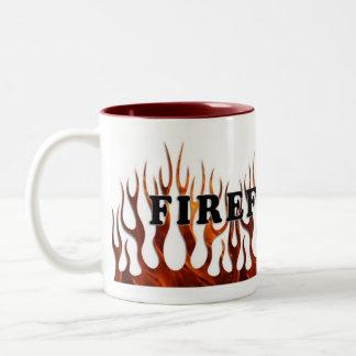 Tribal FF Flames Two-Tone Coffee Mug