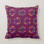 Tribal Fiery Honeycomb Pillow