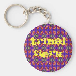 Tribal Fiery Keychain