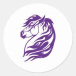 Tribal Fire Horse Purple Stickers