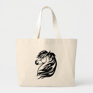 Tribal Fire Horse Tote Bags