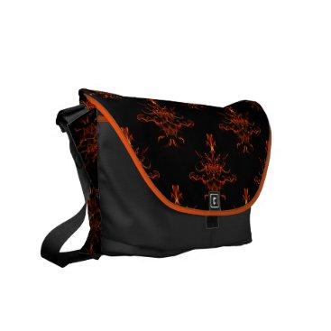 linda_mn Tribal Fire Messenger Bag