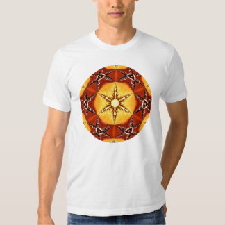 Tribal Fire Star Kaleidoscope Mandala Tshirts