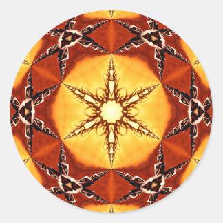 Tribal Fire Star Stickers