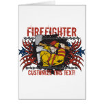 Tribal Firefighter Greeting Card