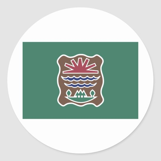 Tribal Flag of the Western Abenaki Nation Classic Round Sticker