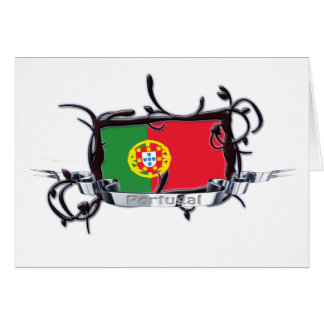 Tribal Flag Portugal Card