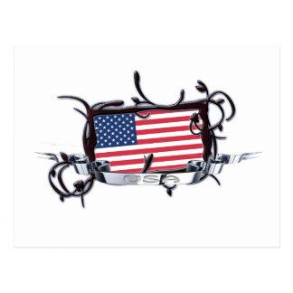 Tribal Flag USA Postcard