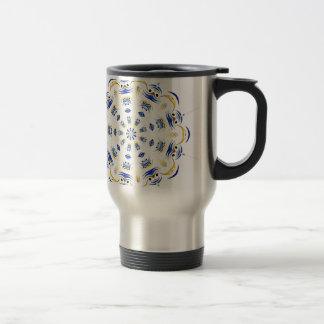tribal-flake travel mug
