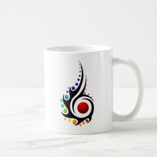 Tribal flame coffee mug