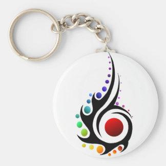 Tribal flame keychains