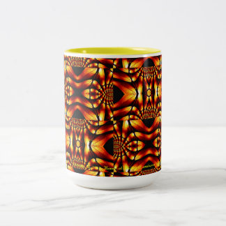 Tribal-Flavored Abstract Pattern Design Two-Tone Coffee Mug