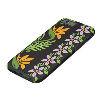 Tribal floral hawaiano funda de iPhone 6 tough