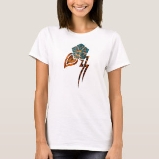 Tribal Flower #2 Topaz T-Shirt