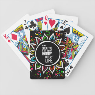 Tribal Flower with Text Bicycle Poker Cards