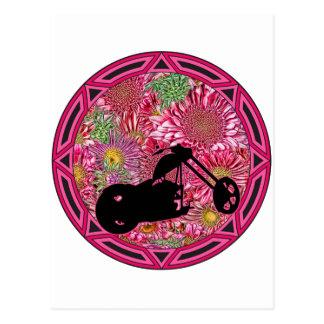 Tribal Flowers Chop Postcard