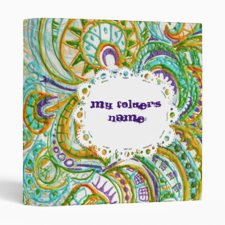 Tribal Folk Pattern 3 Ring Binder