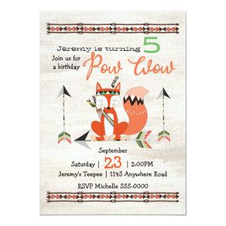 Tribal Fox Children's Birthday Card
