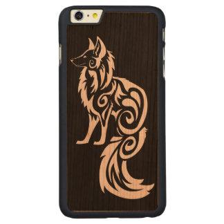 Tribal Fox Kitsune Carved® Cherry iPhone 6 Plus Slim Case