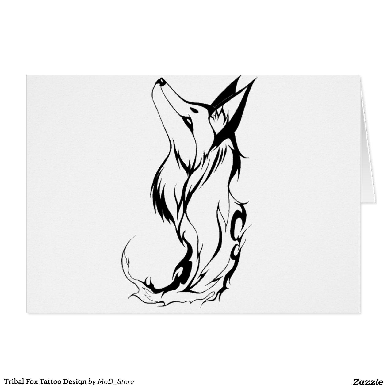 Tribal Fox Tattoo Desi...