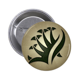 Tribal Frond Round Button