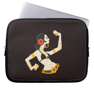 tribal fusion belly dancer with cymbals laptop sleeve