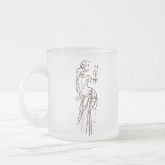 tribal fusion gypsy dancer frosted glass coffee mug