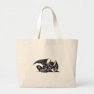 tribal gargoyle design bags