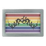 Tribal Gay Man Rainbow Symbols buckles Belt Buckle