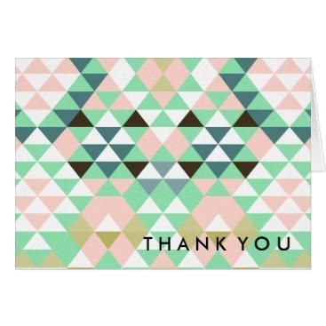 Aztec Themed Tribal Geometric Aztec Thank You CBendel Card