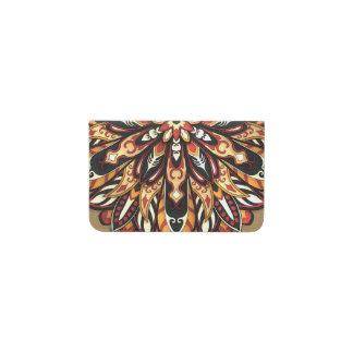 Tribal Geometric Brown and Black Mandala Business Card Holder