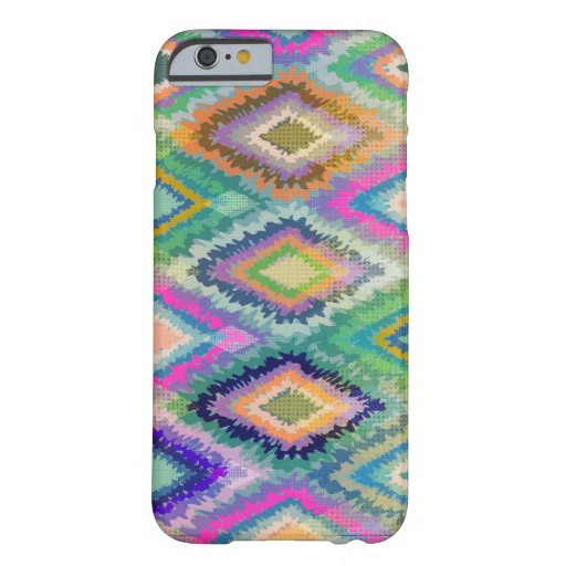 Tribal Geometric Colorful Ikat Pattern Barely There iPhone 6 Case