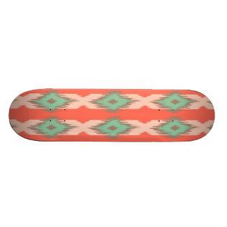 Tribal geometric diamond ikat stripe Aztec pattern Skateboard Deck
