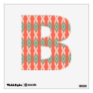 Tribal geometric diamond stripe ikat Aztec pattern Wall Sticker