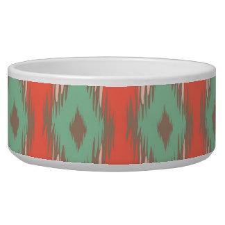 Tribal geometric diamond stripes Aztec pattern Bowl