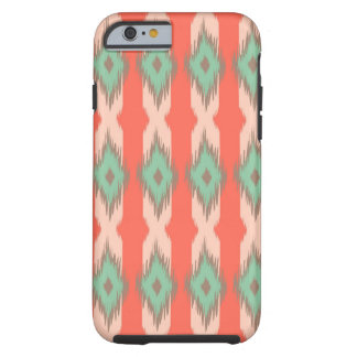 Tribal geometric diamond stripes Aztec pattern Tough iPhone 6 Case