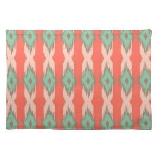 Tribal geometric diamond stripes Aztec pattern Cloth Placemat