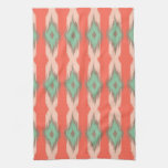 Tribal geometric diamond stripes Aztec pattern Kitchen Towel