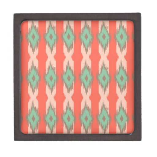 Tribal geometric diamond stripes Aztec pattern Premium Keepsake Box