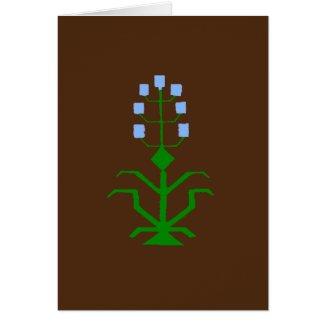 tribal geometric ethnic art greeting card