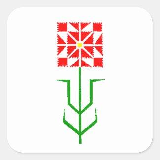 tribal geometric ethnic art square sticker