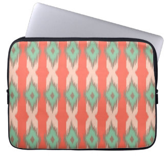 Tribal geometric ikat girly abstract Aztec pattern Computer Sleeves