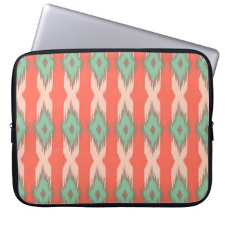 Tribal geometric ikat girly abstract Aztec pattern Laptop Sleeves