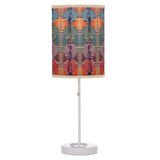 Tribal Geometric Pattern Lamp