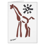 tribal giraffe, sanguine greeting cards