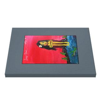 Tribal Girl - on Canvas print