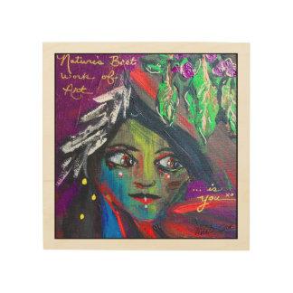 Tribal Girl - wood print